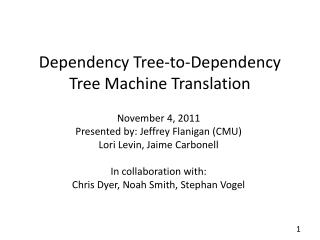 Dependency Tree-to-Dependency Tree Machine Translation