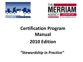 Certification Program Manual 2010 Edition
