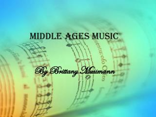 Middle Ages Music