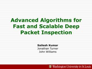 Advanced Algorithms for Fast and Scalable Deep Packet Inspection