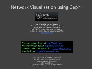 Network Visualization using Gephi