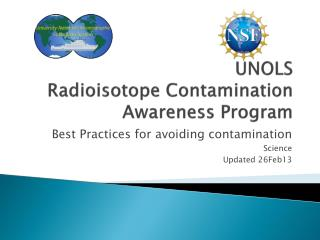 UNOLS  Radioisotope Contamination Awareness Program