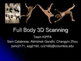 Full Body 3D Scanning