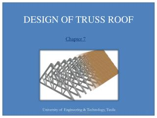 DESIGN OF TRUSS ROOF