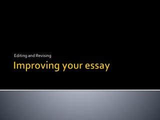 Improving your essay