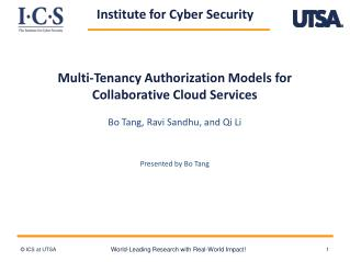 Multi-Tenancy Authorization Models for  Collaborative  Cloud Services