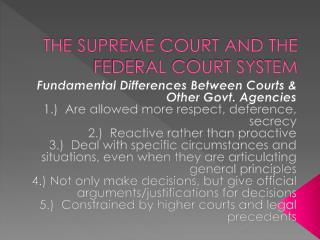 THE SUPREME COURT AND THE FEDERAL COURT SYSTEM