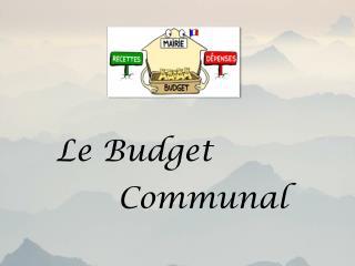 Le Budget Communal