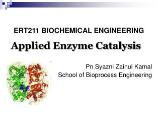 Applied Enzyme Catalysis