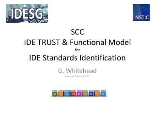 SCC IDE TRUST & Functional Model for IDE Standards Identification
