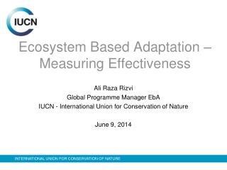 Ecosystem Based Adaptation – Measuring Effectiveness