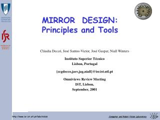 MIRROR  DESIGN: Principles and Tools