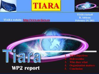 TIARA kickoff R . Aleksan February 24. 2011
