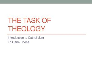 The Task of Theology