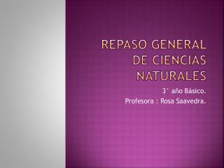Repaso general de Ciencias Naturales