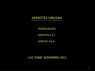 HEPATITES  VIRUSAIS