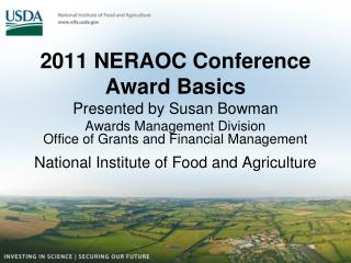 2011 NERAOC Conference Award Basics Presented by Susan Bowman Awards Management Division