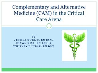 Complementary and Alternative Medicine (CAM)  in the Critical Care Arena