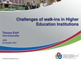 Challenges of walk-ins in Higher Education Institutions