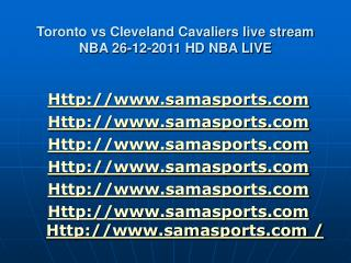Watch Toronto vs Cleveland Cavaliers live stream NBA 26-12-2