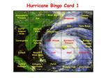 Hurricane Bingo Card 1