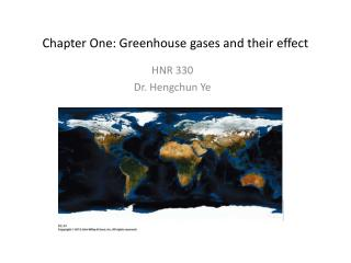 Chapter One: Greenhouse gases and their effect