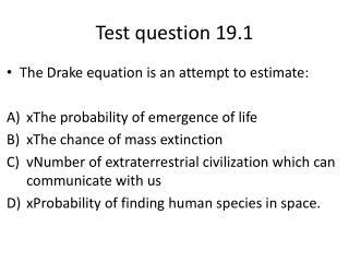 Test question 19.1