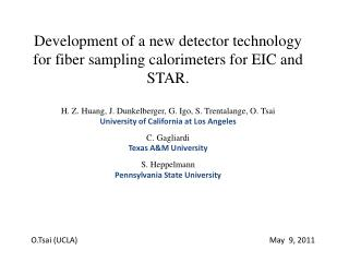Development of a new detector technology  for fiber sampling calorimeters for EIC and STAR.