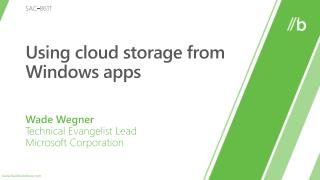 Using cloud storage from Windows apps