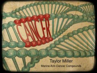 Taylor Miller Marine Anti-Cancer Compounds