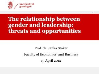 The relationship between gender and leadership: threats and opportunities