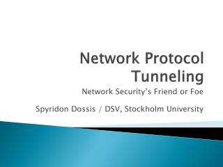 Network Protocol Tunneling