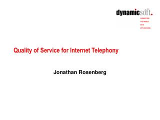 Quality of Service for Internet Telephony