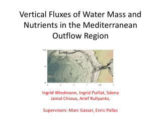 Vertical Fluxes of Water Mass and Nutrients in the Mediterranean Outflow Region
