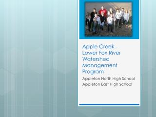 Apple Creek - Lower Fox River Watershed Management Program