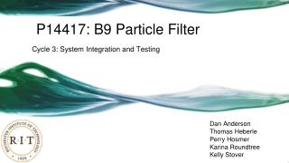 P14417: B9 Particle Filter