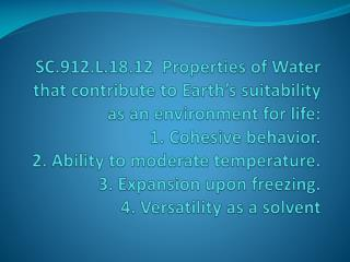 Nature of Water