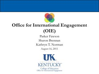 Office for International Engagement (OIE)