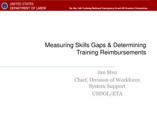 Measuring Skills Gaps & Determining Training Reimbursements