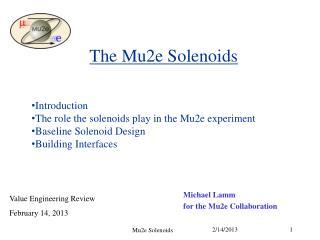 The Mu2e Solenoids