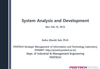 System Analysis and Development