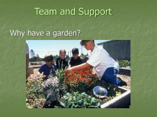 Team and Support Why have a garden?