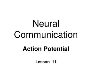 Neural Communication