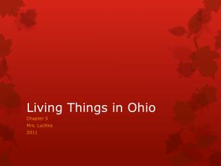 Living Things in Ohio