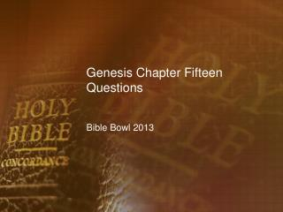 Genesis Chapter Fifteen Questions