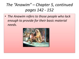 """The """" Anawim """" – Chapter 5, continued pages 142 - 152"""