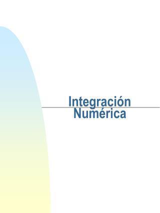 Integración Numérica