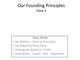 Our Founding Principles Class 3