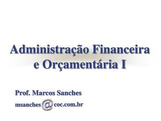 Prof. Marcos Sanches