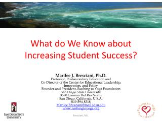 What do We Know about Increasing Student Success?